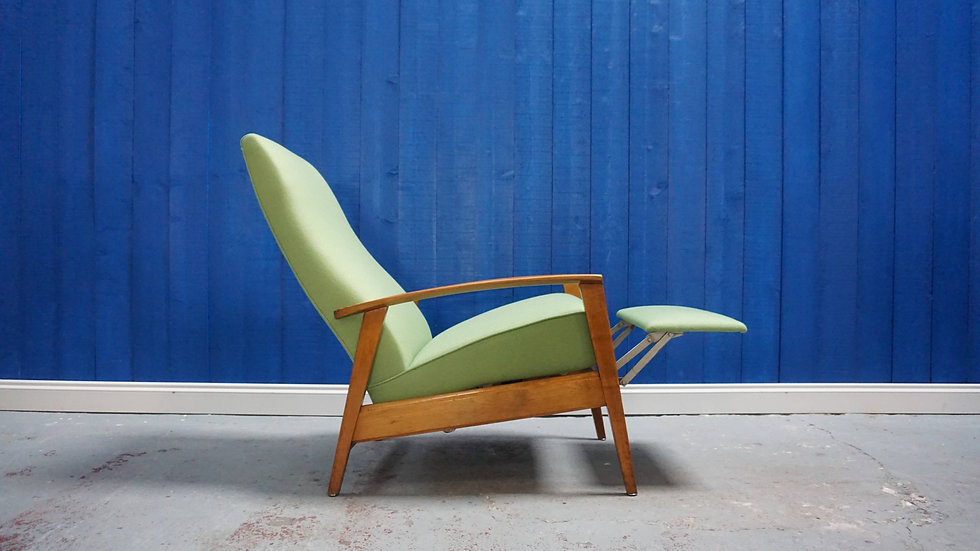 Mid Century Modern Danish Recliner Armchair from 1960's Design vintage
