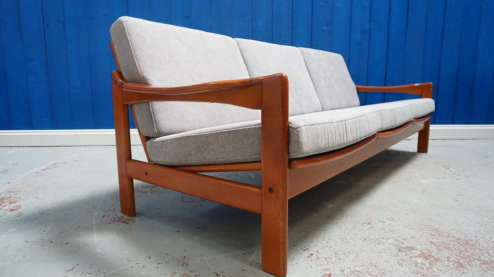 Mid Century Modern Three Seater Danish Sofa form 1960's