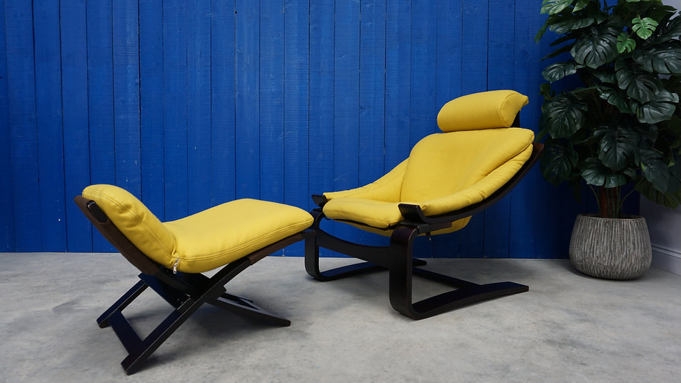 Mid Century Swedish Kroken Chair by Ake Fribytter for Nelo Möbel