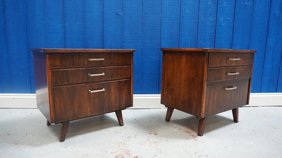 Mid Century Bedside Cabinets, 1960s, Set of 2 Danish storage Vintage