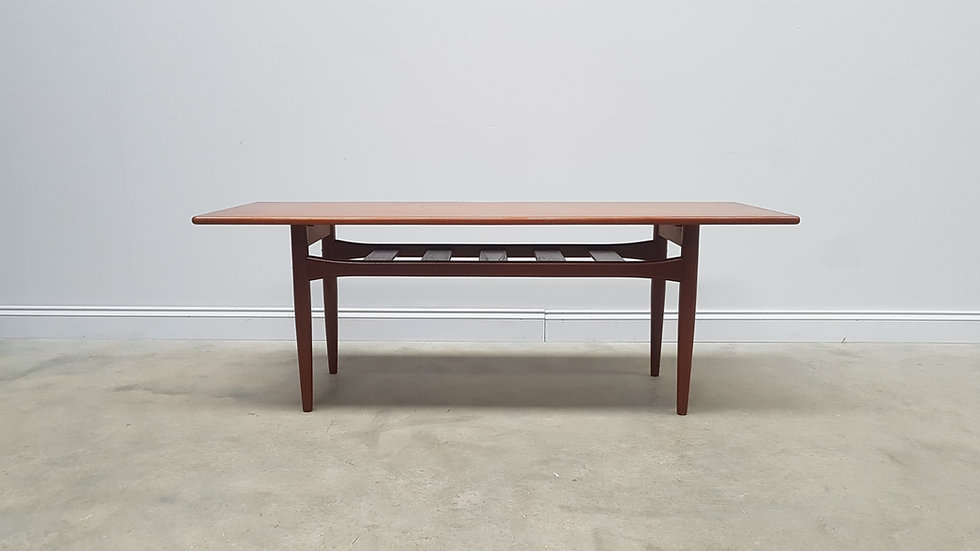Mid Century Danish Teak Coffee Table by Trioh