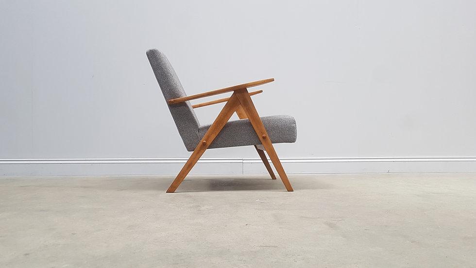 Mid Century Chair Model B 310 Var in Light Grey Tweed, 1960