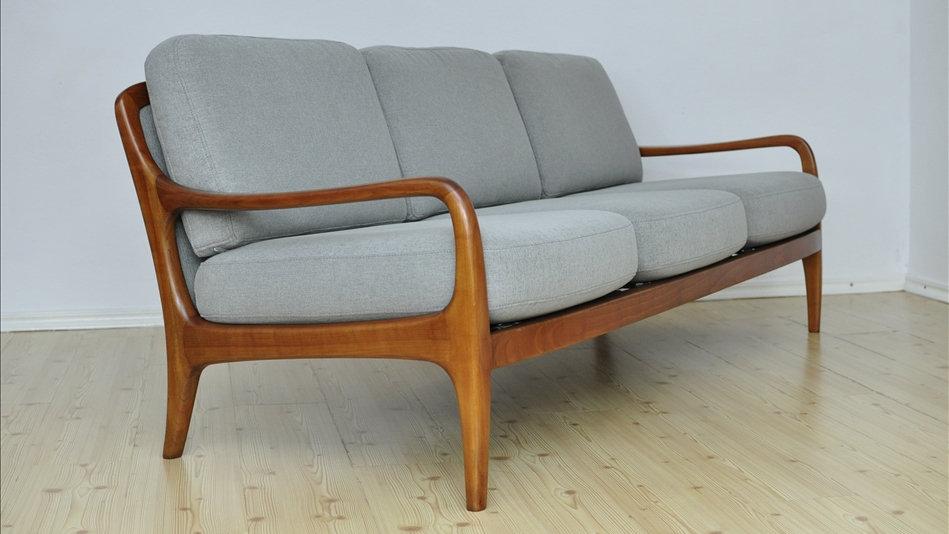 Danish 3 Seat Sofa Mid Century 1960's