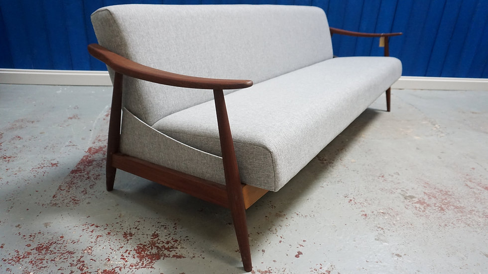 Mid Century Modern Three Seater Danish Sofa - Bed from 1960's