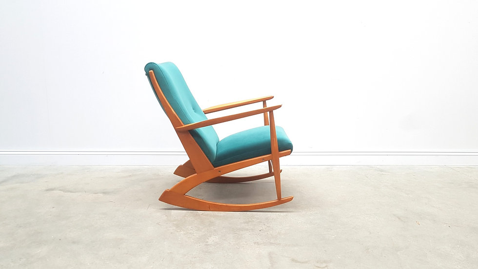 Danish Rocking Chair Model 97 by Søren Georg Jensen for Tønder Møbel