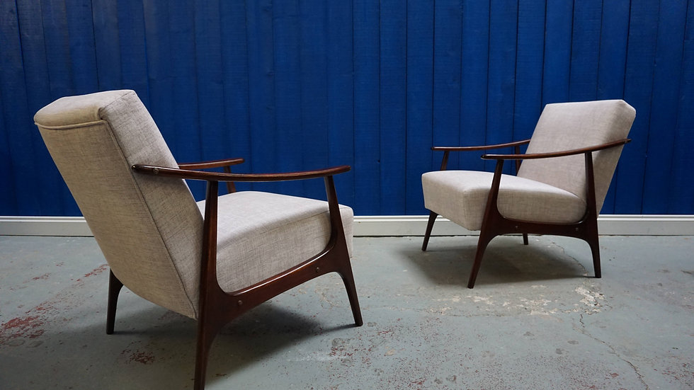 Mid Century Czech Armchairs from the 60's, Set of 2