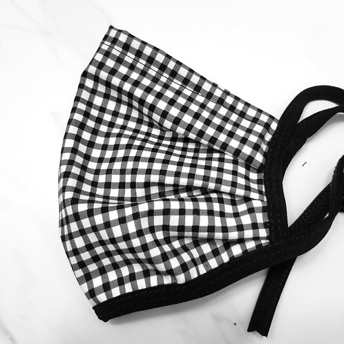 COTTON GINGHAM - BLACK & WHITE