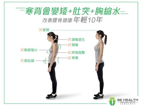 【寒背會變矮+肚突+胸縮水!改善腰脊健康年輕10年】