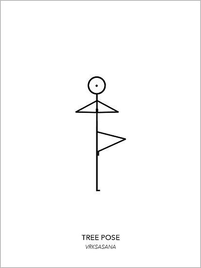 "Yoga Poster ""Tree Pose"""