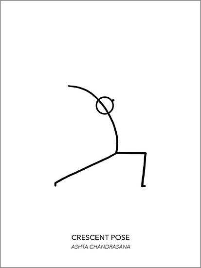 "Yoga Poster ""Crescent"""