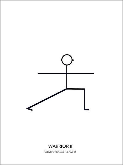 "Yoga Poster ""Warrior 2"""