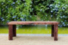 mesa banco de madera reciclada