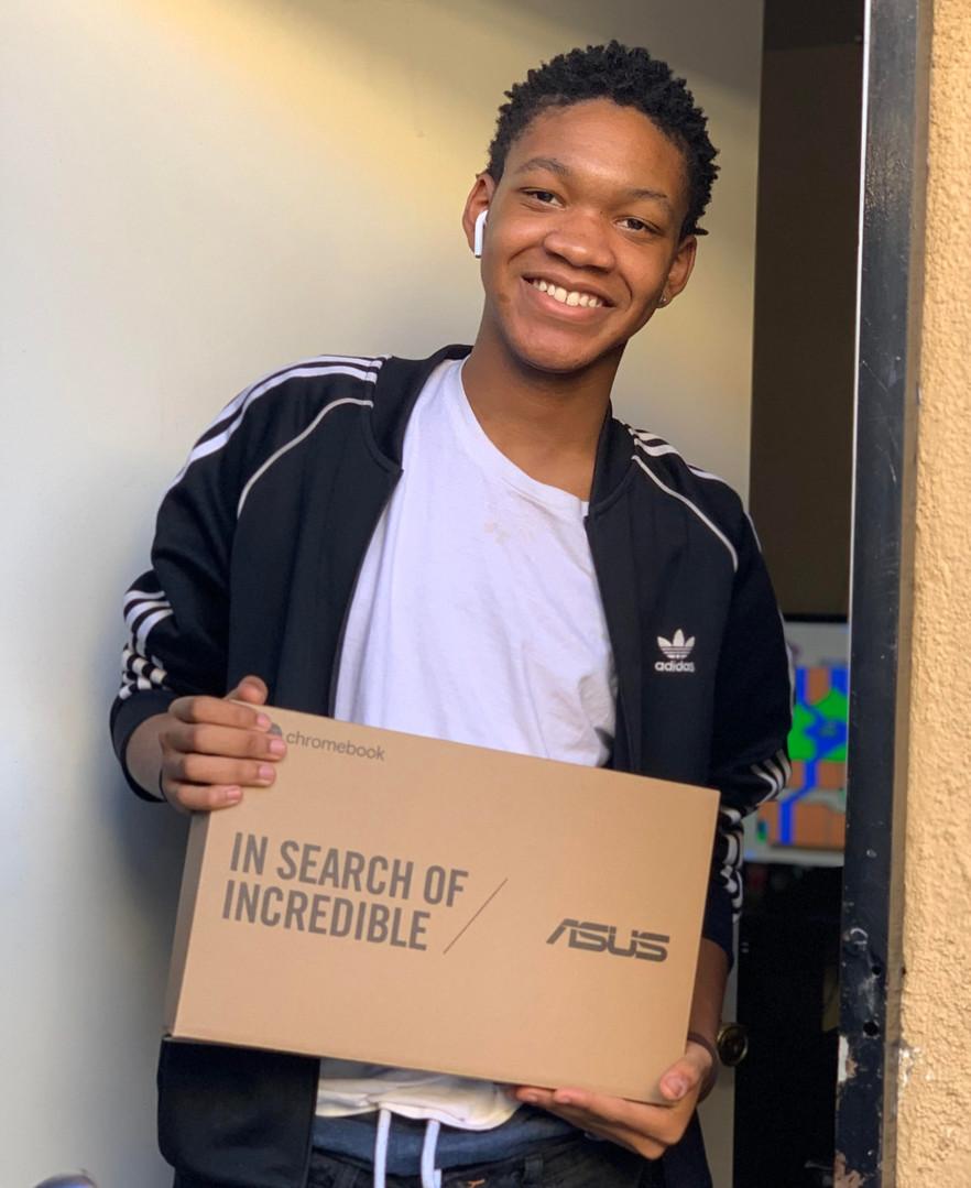 Jonathan receives his Chromebook!