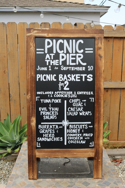 Picnic at the Pier Chalkboard