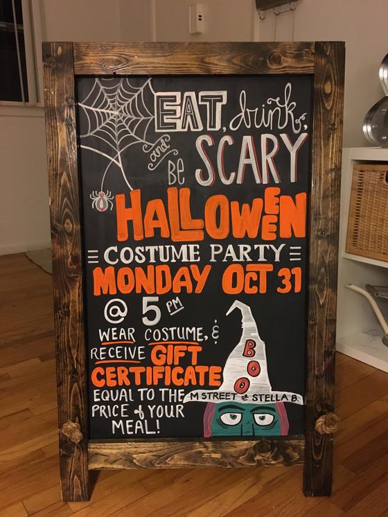 Halloween Costume Party Chalkboard