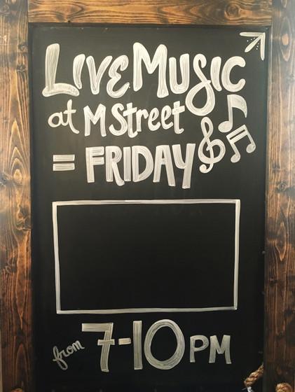Live Music Chalkboard