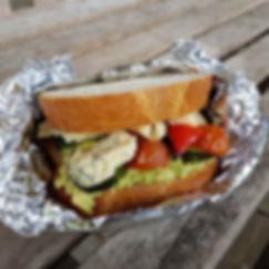 DBV & Mediterrean Veg Sandwich