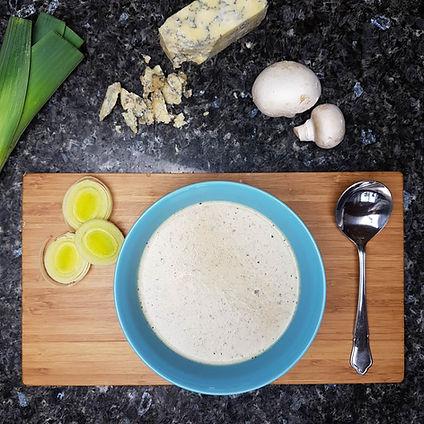 Mushroom, Leek & Dorset Blue Vinny Soup