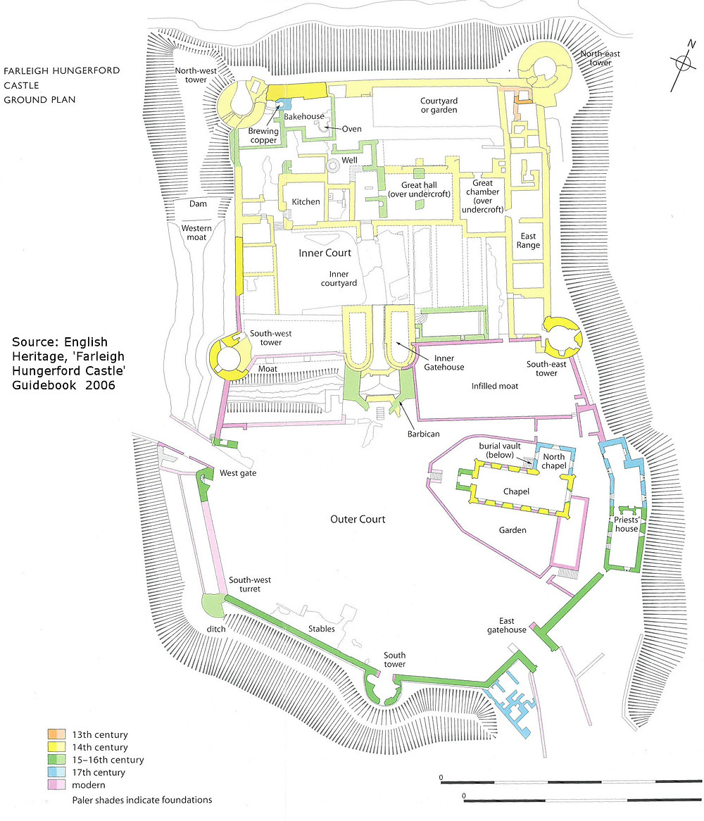 English Heritage Farleigh Hungerford Castle Site Plan