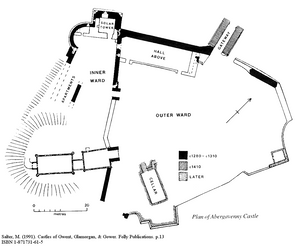 Mike Salter Abergavenny Castle Site Plan