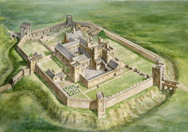 sherborne old castle reconstruction
