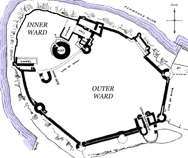 Pembroke Castle Site Plan