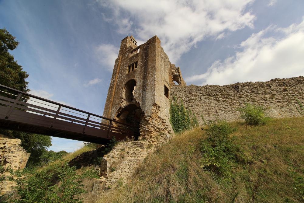 sherborne old castle dorset england