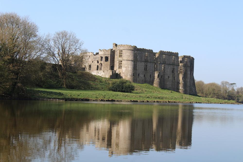 Carew castle Pembrokeshire Wales