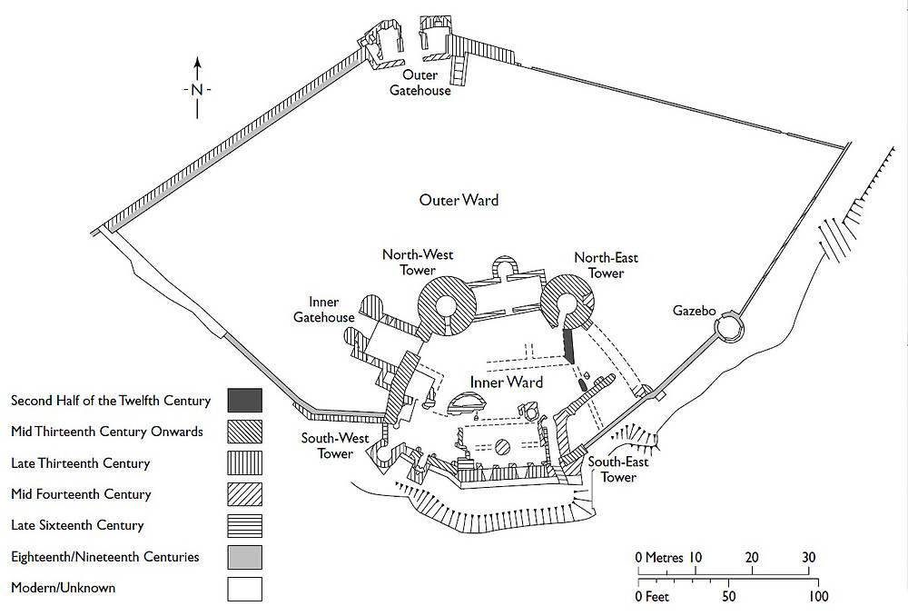 Laugharne Castle Plan
