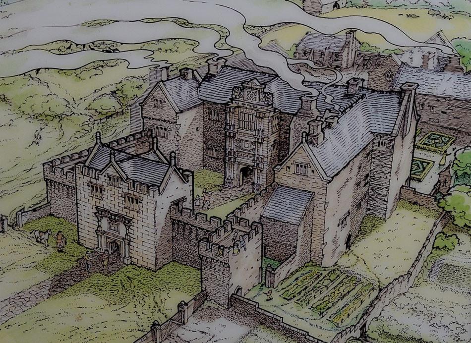 old beaupre castle site plan