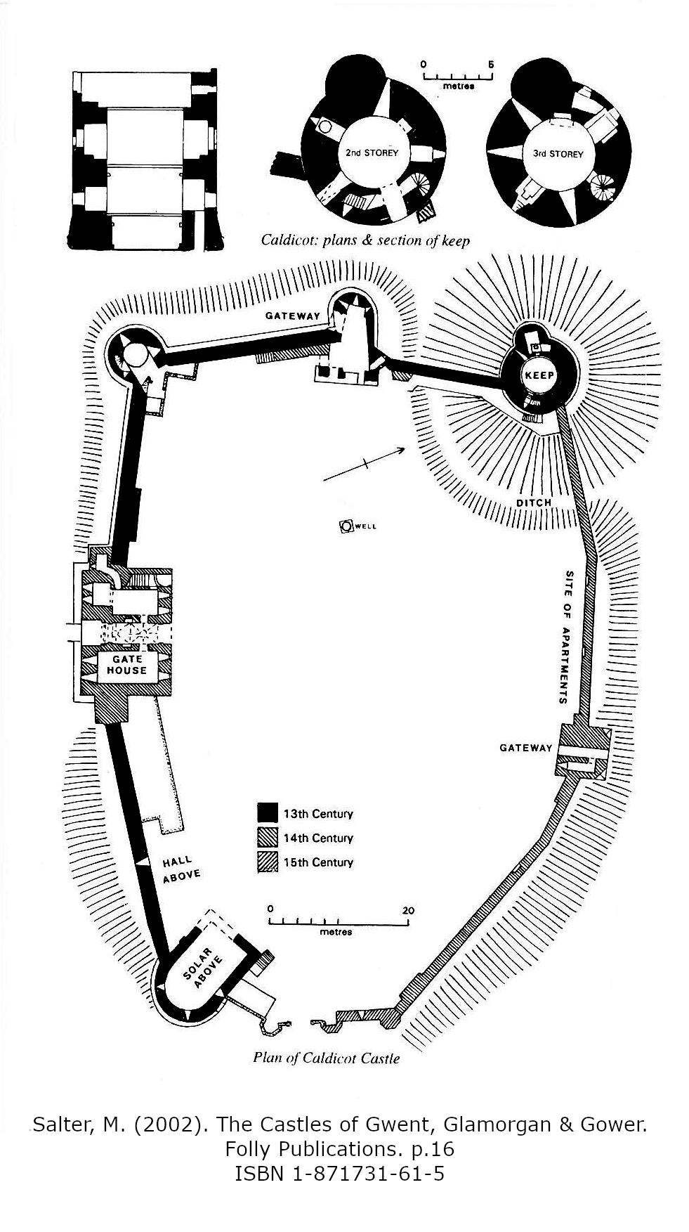 Caldicot Castle Monmouthshire Wales Site Plan