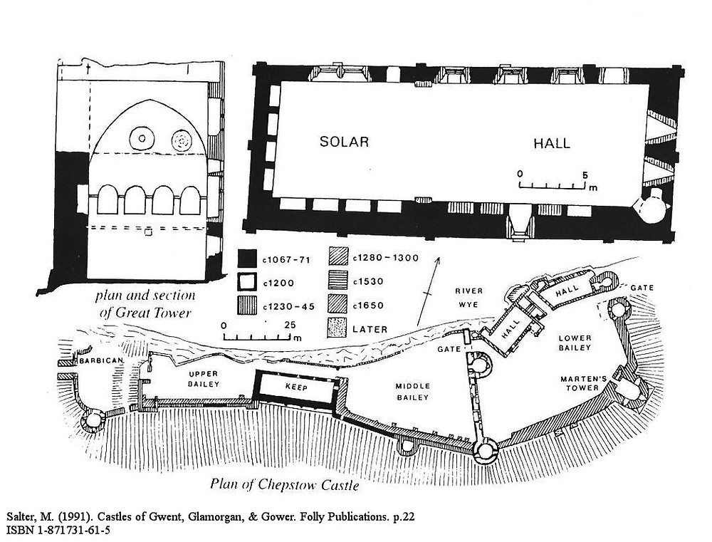 Mike Salter Chepstow Castle Site Plan