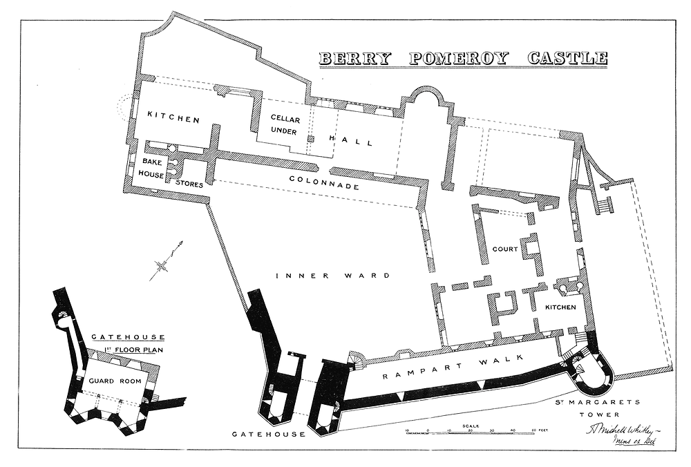 Berry Pomeroy Site Plan, Whitley. H. Michell 1915