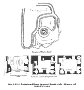 Hopton Castle Site Plan by Mike Salter