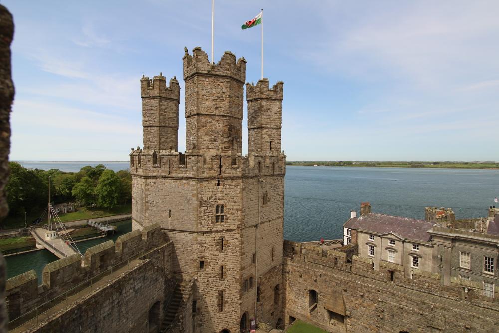Caernarfon Castle Gwynedd North Wales