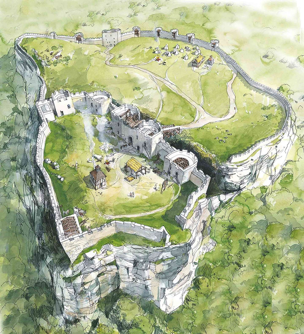 Beeston castle reconstruction
