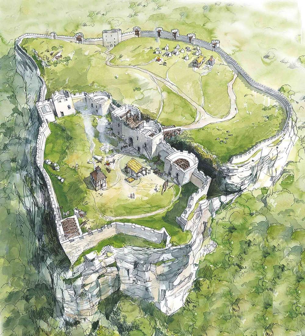 Beeston castle reconstruction