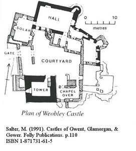 mike salter weobley castle site plan