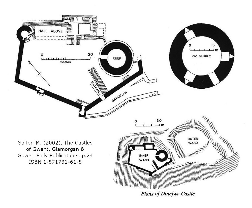 dinefwr castle site plan