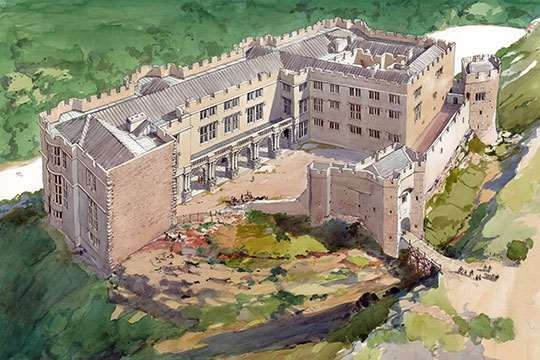 Berry Pomeroy Castle reconstruction