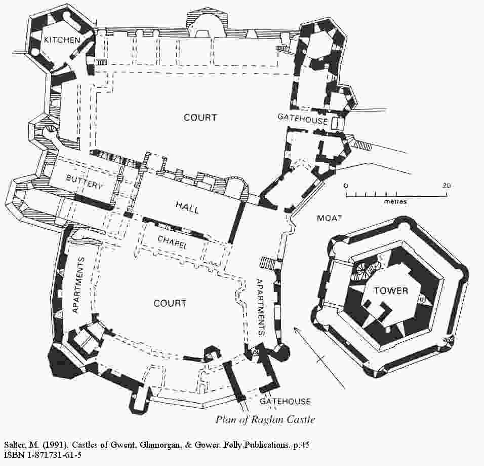 mike salter raglan castle plan