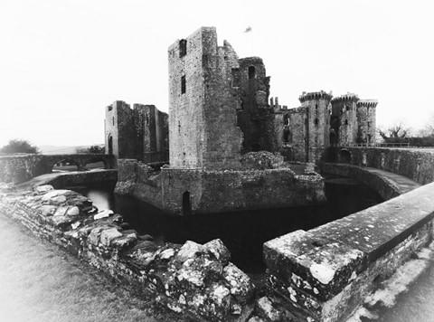 Raglan Castle Monmouthshire Wales CADW