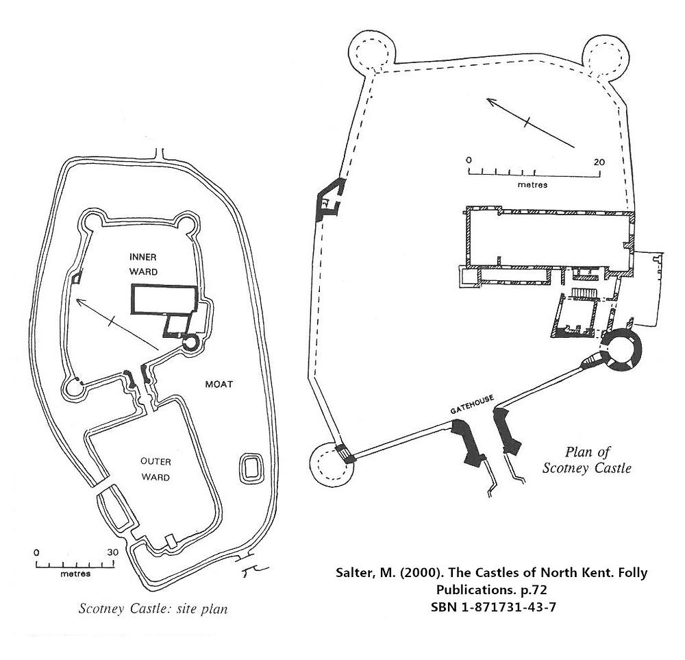Scotney Old Castle Kent England Site Plan