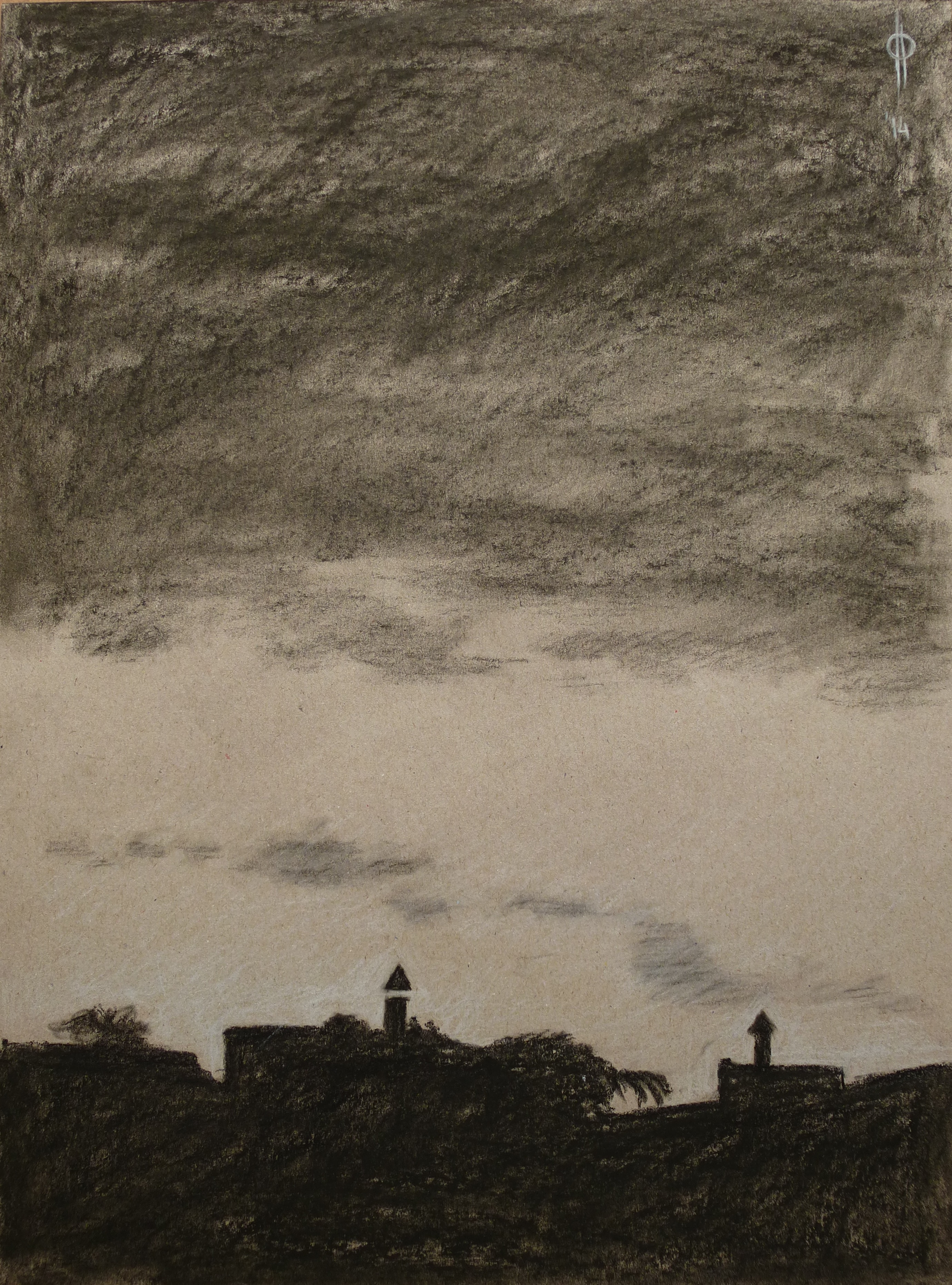 10. charcoal and chalk on paper, 40x29.5 cm, 2014