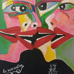 #danbota #rencontre #painting #acrylic #canvas #colorful #expresividad