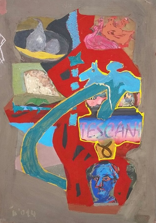 Colony Art Gallery  - Ilie Boca -Palimpsest Tescani -mixed media on board - 2014