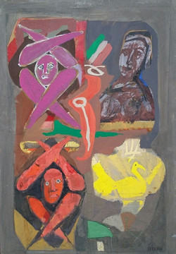 Colony Art Gallery  - Ilie Boca -Palimpsest 2 - mixed media on board - 2014