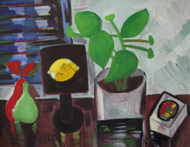 Dan Bota - Lemon, oil on board, 50x65 cm 1982