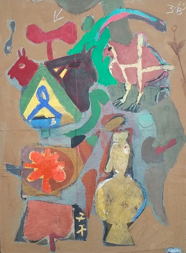 Colony Art Gallery  - Ilie Boca -Palimpsest 1 - mixed media on board - 2014