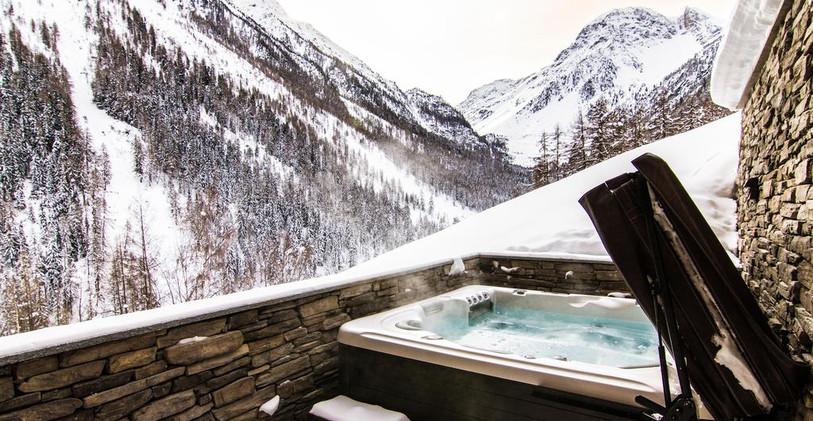CEO retreat - hot tub